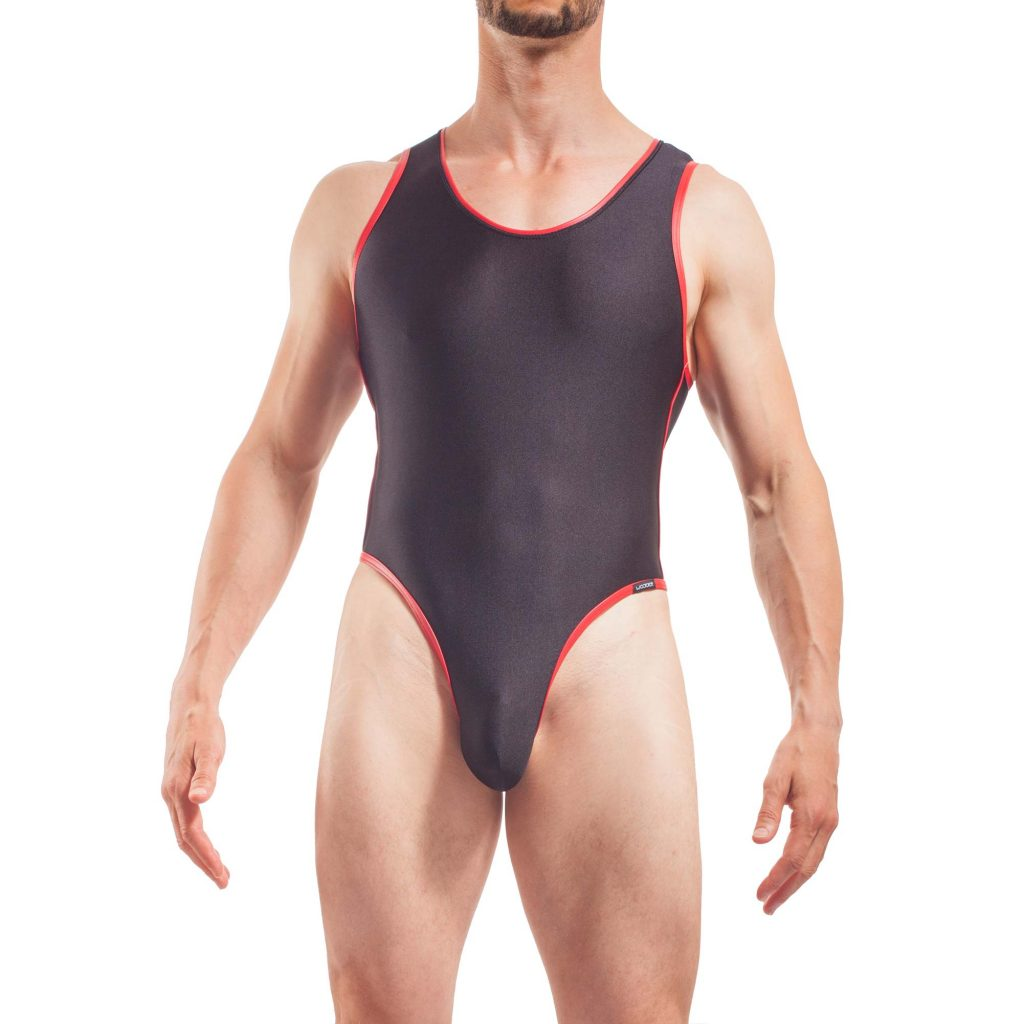 Micro Body, Herren, ohne Reißverschluss, super strechy, Kunstledereinfassung