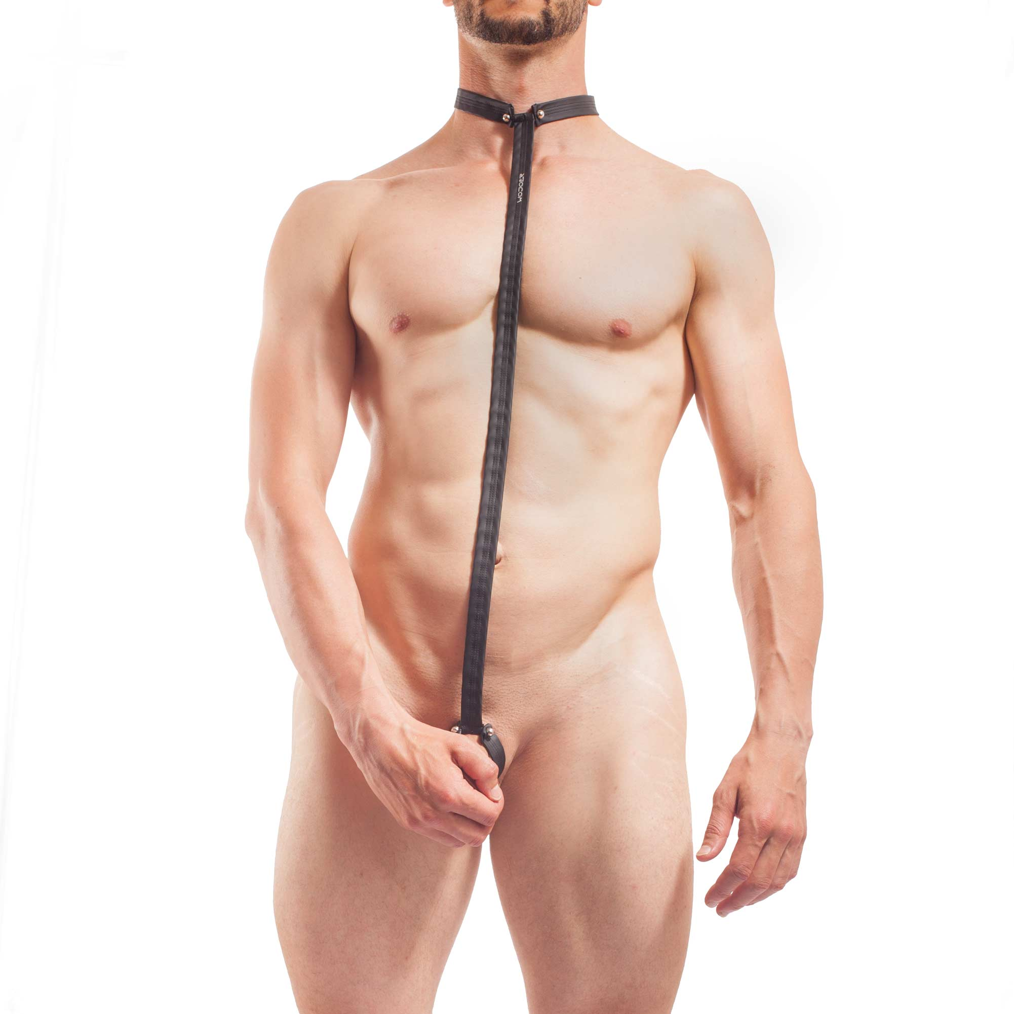 Piercing Body Set, mattes Leder, Synlex, schwarz, Leatherlike, BTR, Bauchband, Halsband
