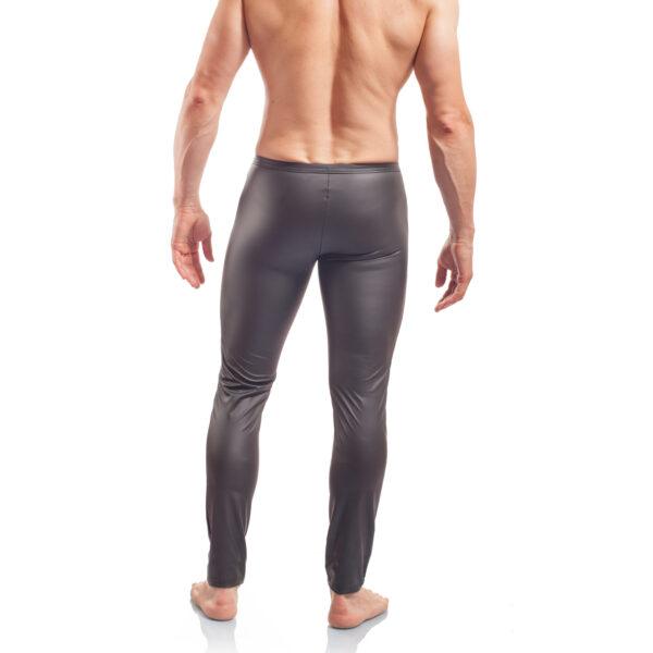 Piercing, mattes Leder, Synlex, schwarz, Leatherlike, eng anliegende Leggings