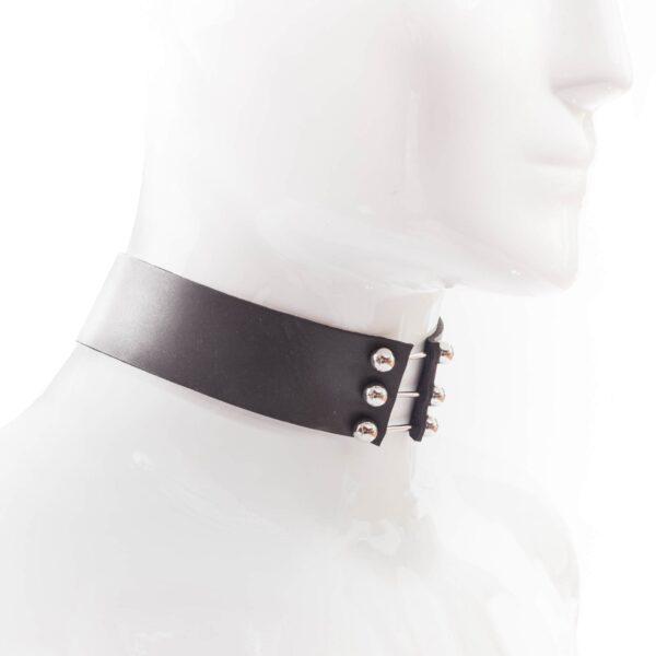Neopren Halsband, Piercing, matt schwarz, weiches Hautgefühl, badetauglich