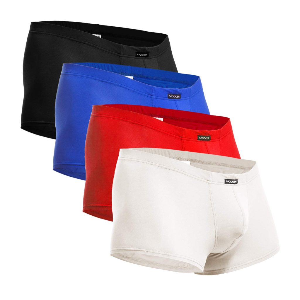 BEUN Basic Pants, 4-Pack, Bunt, Unterhose, Badehose, Boxershorts, Swim trunks, Swim shorts, Beachwear, Underwear for men, schwarz, blau, rot, weiß