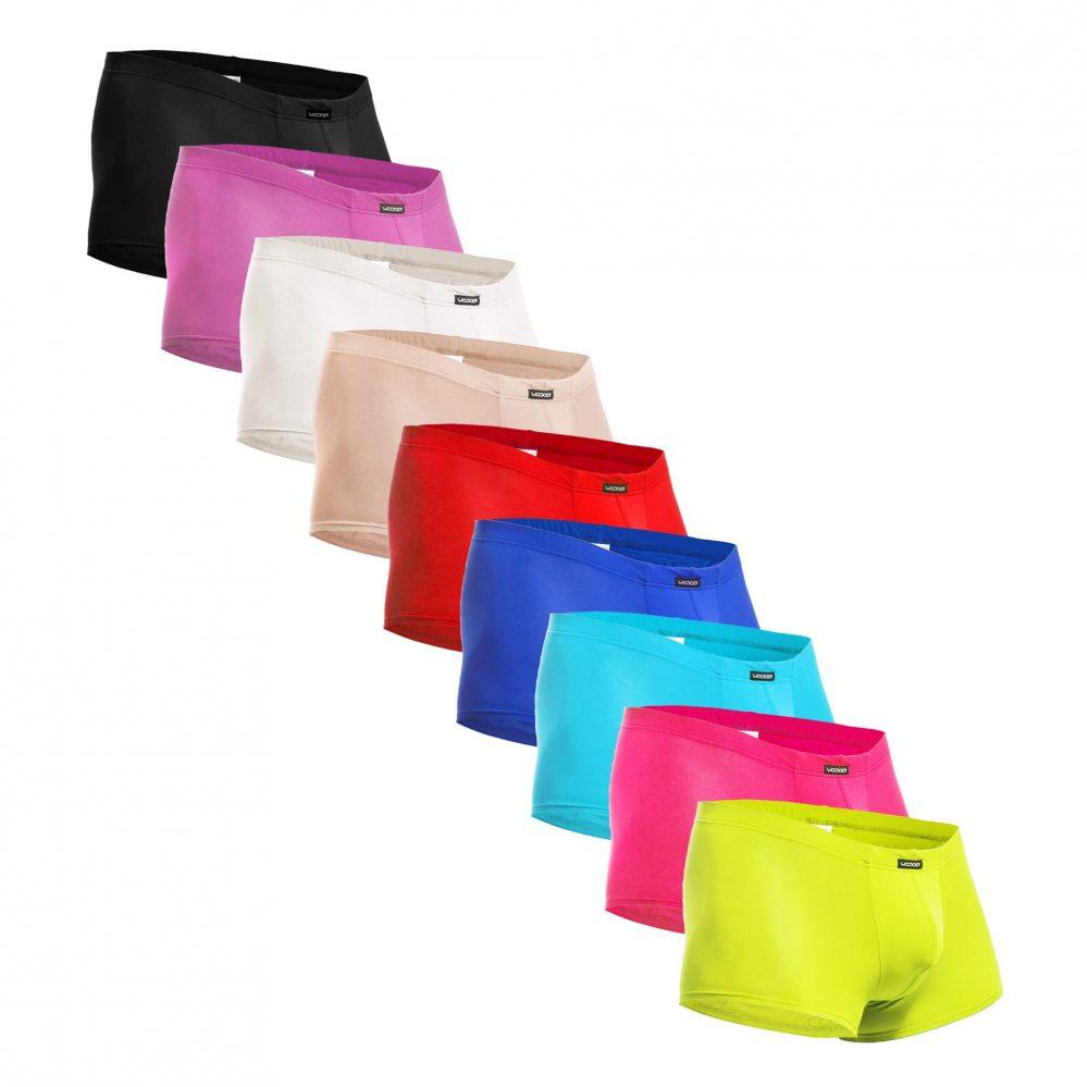 BEUN Basic Pants 9-Pack, 9 Farben, Unterhose, Badehose, Boxershorts, Swim trunks, Swim shorts, Beachwear, Underwear for men, bunt, schwarz, lila, weiß, nude, rot, blau, hell blau, neon pink, neon gelb