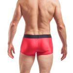 Wojoer Badeshorts, Badehose, Bade pants, Schwimmhose, rot, schwarz, Badeglanz, Glänzende Shorts, dehnbare Hose, Jersey Shorts