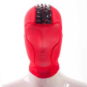 Rebel Fetisch Maske, feurig rot, Powernet, Netz, Lack, Leatherlike, Iro