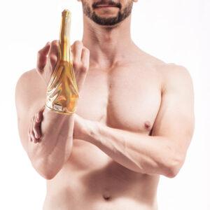 Wojoer, Golden Finger, schimmerndes Gold, Glanz Manschette für die ganze Hand, golden Lack