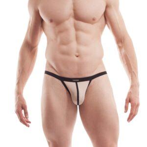 Bade G-String, BEUN Stripe Beach and Underwear, Badeslip, Badehose Männer, Badestring, sexy Men underwear, nude, hautfarben