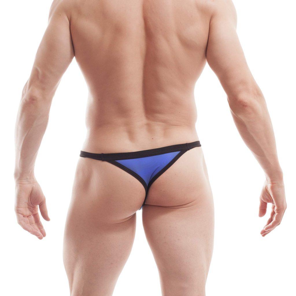 Bade G-String, BEUN Stripe Beach and Underwear, Badeslip, Badehose Männer, Badestring, sexy Men underwear, royal blau, königsblau