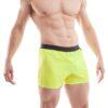 Wojoer, beach, shorts, badehosen, neongelb, schwarzer bund, ohne taschen
