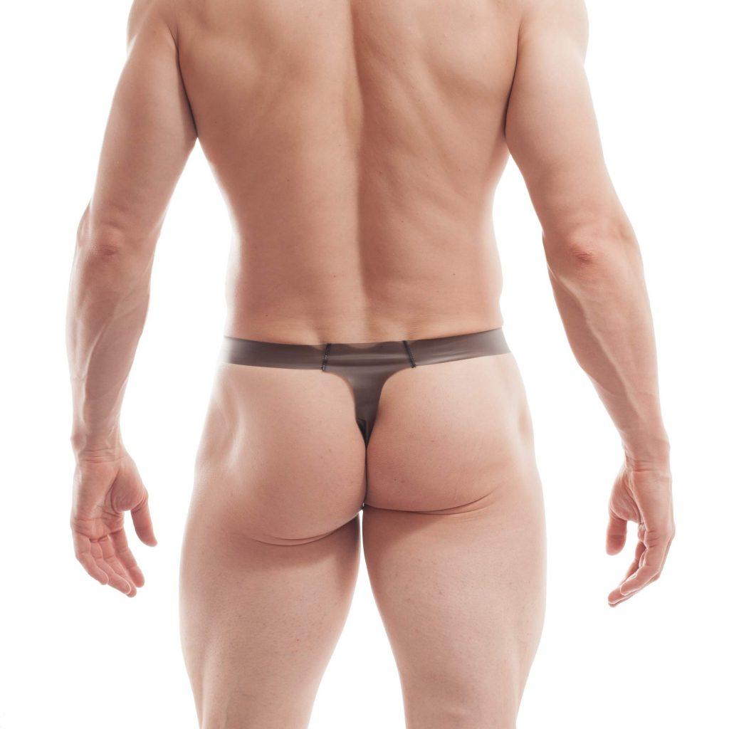 funplastic, schmalissimo, shorts, herren, leatherlike, gummi, durchsichtig, hauteng, schwarz
