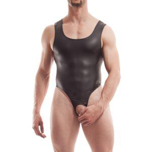 Ouverte String Body, overt, string body, wojoer, offen, pur, schwarz, leatherlike, sexy