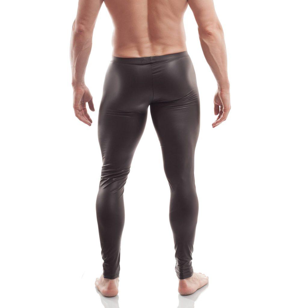 ouverte, leggings, wojoer, offen, pur, schwarz, leatherlike, sexy