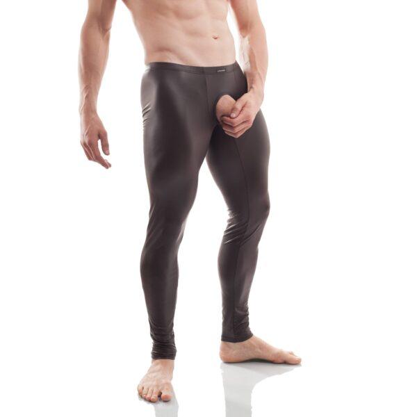 ouverte, overt leggings, wojoer, offen, pur, schwarz, leatherlike, sexy