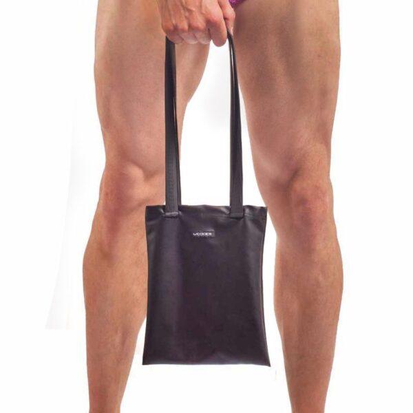 Feine Leather like Tasche Leatherlike , Basic Handbag, schwarz matt Kunstleder Tasche, Tragetasche, schwarze Kunst Leder Handtasche, Geldbörse, Purse