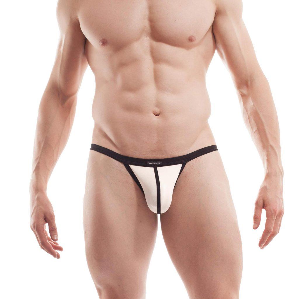 bade G-string, cremaweiß, tanga, herren, unterwäsche, bademode, sexy, knapp