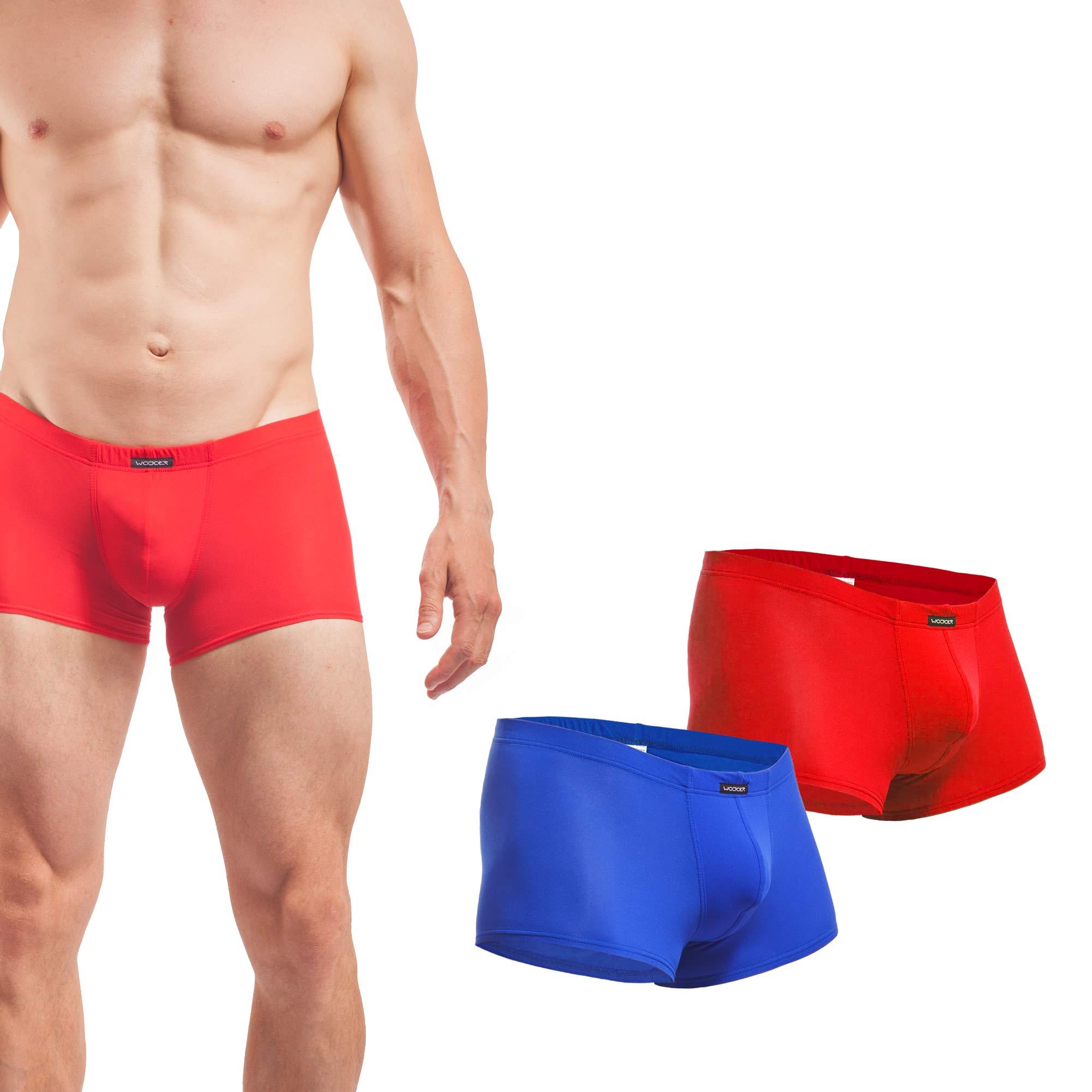 Beun, Basic, Pants, 2er Pack, rot, blau, Shorts, Herren, Unterwäsche
