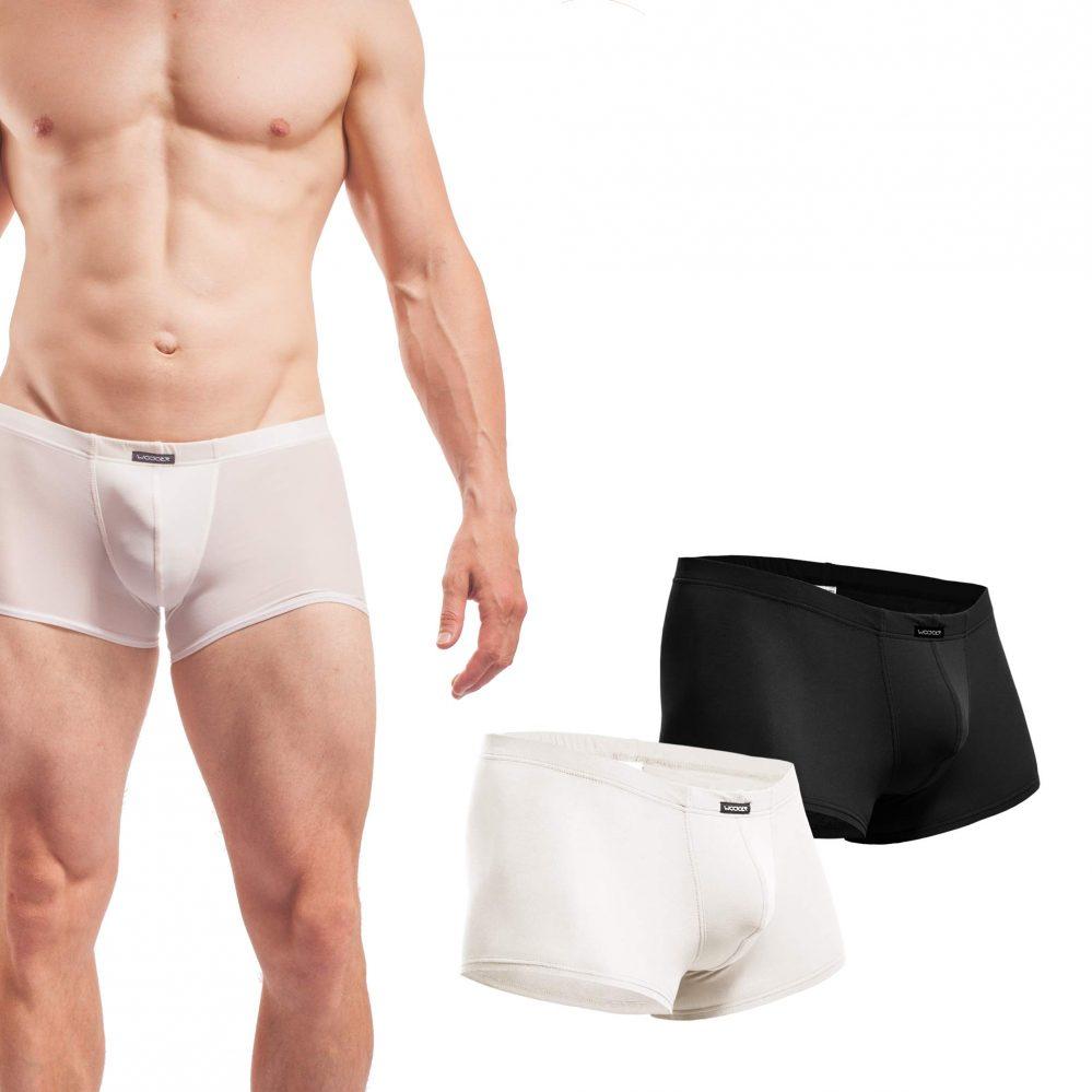 Beun, Basic, Pants, 2er Pack, weiß, schwarz, Shorts, Herren, Unterwäsche