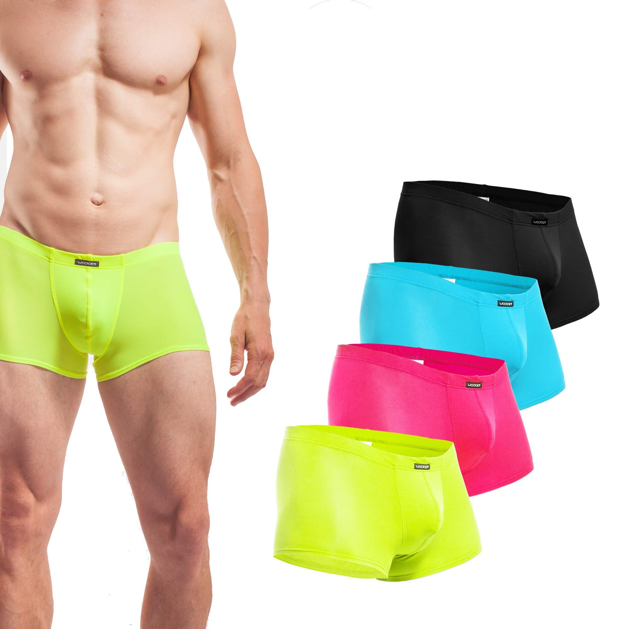 Beun, Basic, Pants, 4er Pack, neongelb, pink, eisblau, schwarz, Shorts, Herren, Unterwäsche