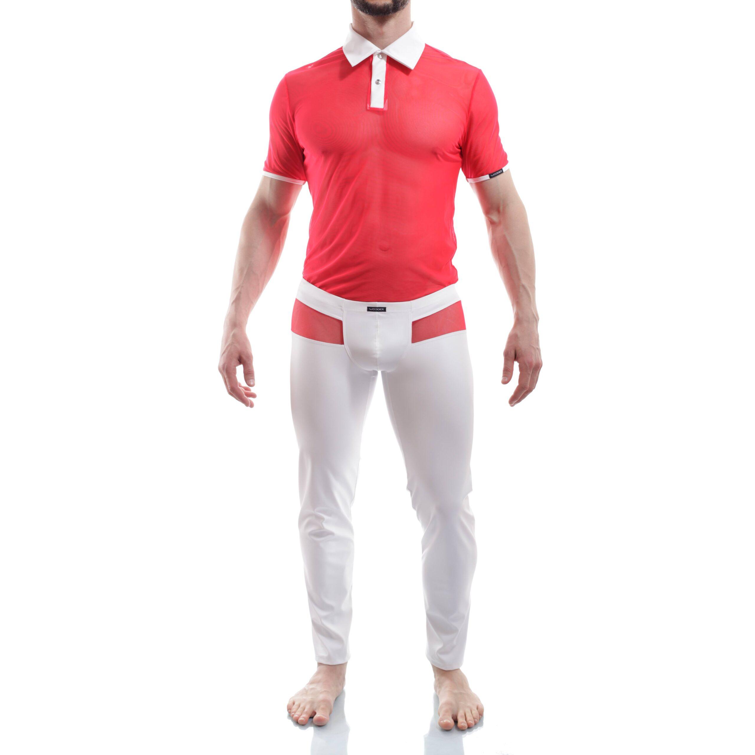Das Dr. Love Poloshirt 387P1 gehört zu den Wojoer LIVE-Produkten. Sie werden ab Bestellung bei uns produziert. So können wir auf Kundenwünsche individuell eingehen. Größen Erhältlich in den Größen S, M, L, XL Materialzusammensetzung rotes Netz: 94% Polyester, 6% Elasthan  Weiß: 100% Polyester, 100% Polyurethan Besonderheiten LIVE-Produkt…