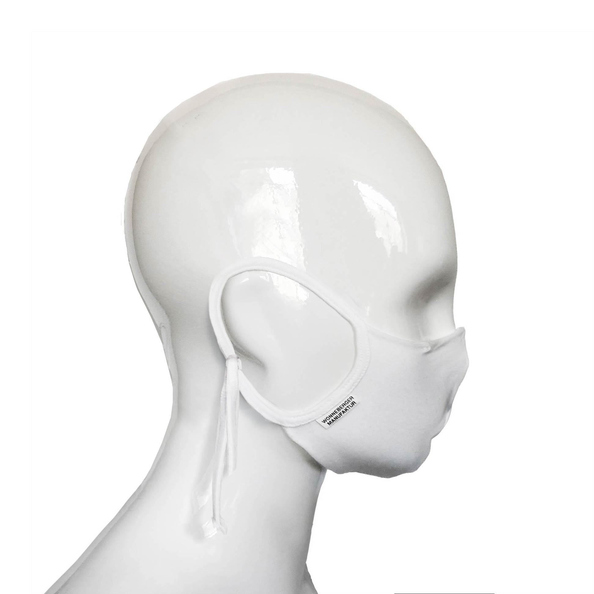 Die Baumwoll Tröpfchen-Fang Maske BWM4 von der Wonneberger Manufaktur ist eine textile Behelfsmaske, keine zertifizierte Mundschutz Maske. Sie schützt nur bedingt vor Ansteckung. Ihr eigentlicher Zweck ist es, den Atem des Trägers zu filtern und dadurch seine Umgebung zu schützen. Daher muss…