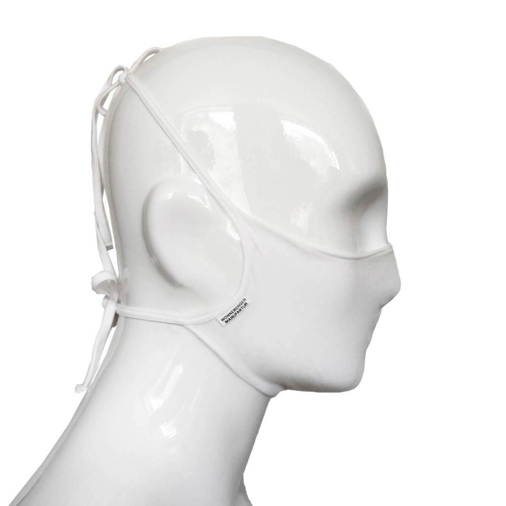 Die Baumwoll Mund-Nasen Maske BWM4 von der Wonneberger Manufaktur ist eine textile Behelfsmaske, kein zertifizierter Mundschutz.  Sie schützt nur bedingt vor Ansteckung. Ihr eigentlicher Zweck ist es, den Atem des Trägers zu filtern und dadurch seine Umgebung zu schützen.  das Austreten von…