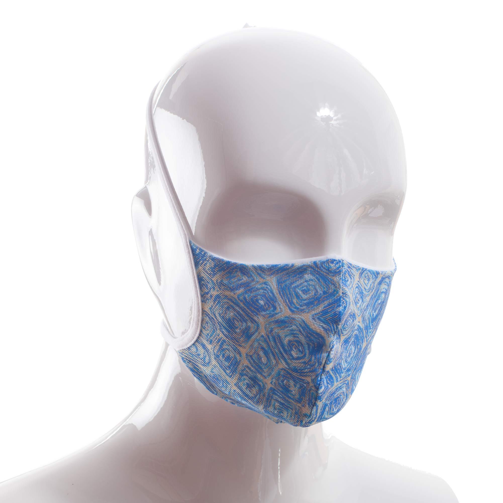 Die Baumwoll-Polyester Mund-Nasen Maske BWPM4Blaugold von der Wonneberger Manufaktur ist eine textile Behelfsmaske, kein zertifizierter Mundschutz.  Sie schützt nur bedingt vor Ansteckung. Ihr eigentlicher Zweck ist es, den Atem des Trägers zu filtern und dadurch seine Umgebung zu schützen.  Daher muss die…